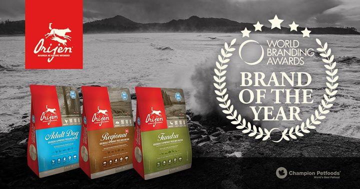 ORIJEN Freeze-Dried Food named Brand of the Year 2017